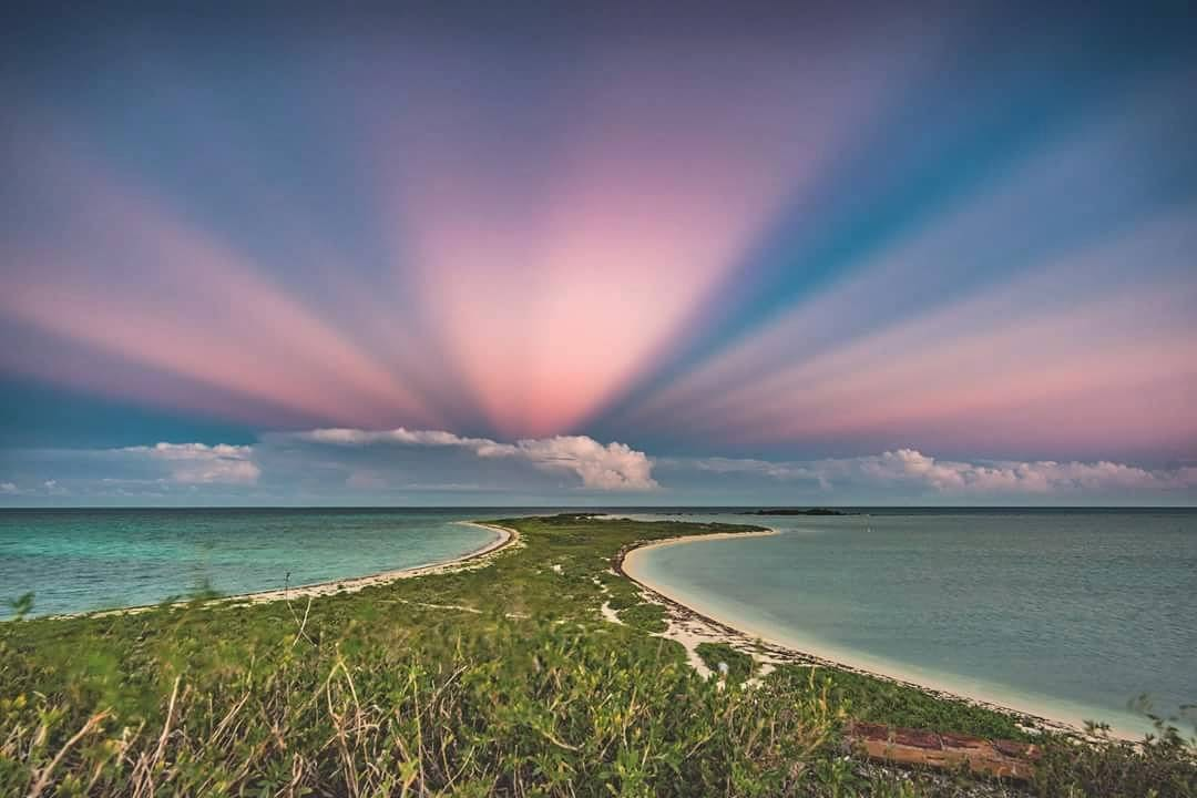 Park visitor @BryanGoffPhoto captured this incredible image of anticrepuscular rays in the east over Bush Key.   Thanks for sharing your #VisitorsView Bryan!   Photo by Bryan Goff