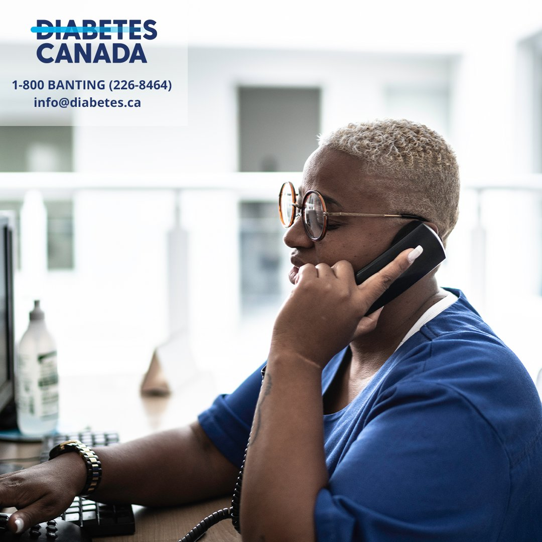 Be sure to use our Diabetes Education Line! It is a free and confidential service where you can get health advice or information related to diabetes self-management from a Certified Diabetes Educator. Phone: 1-800 BANTING (226-8464) Email: info@diabetes.ca #LetsEndDiabetes