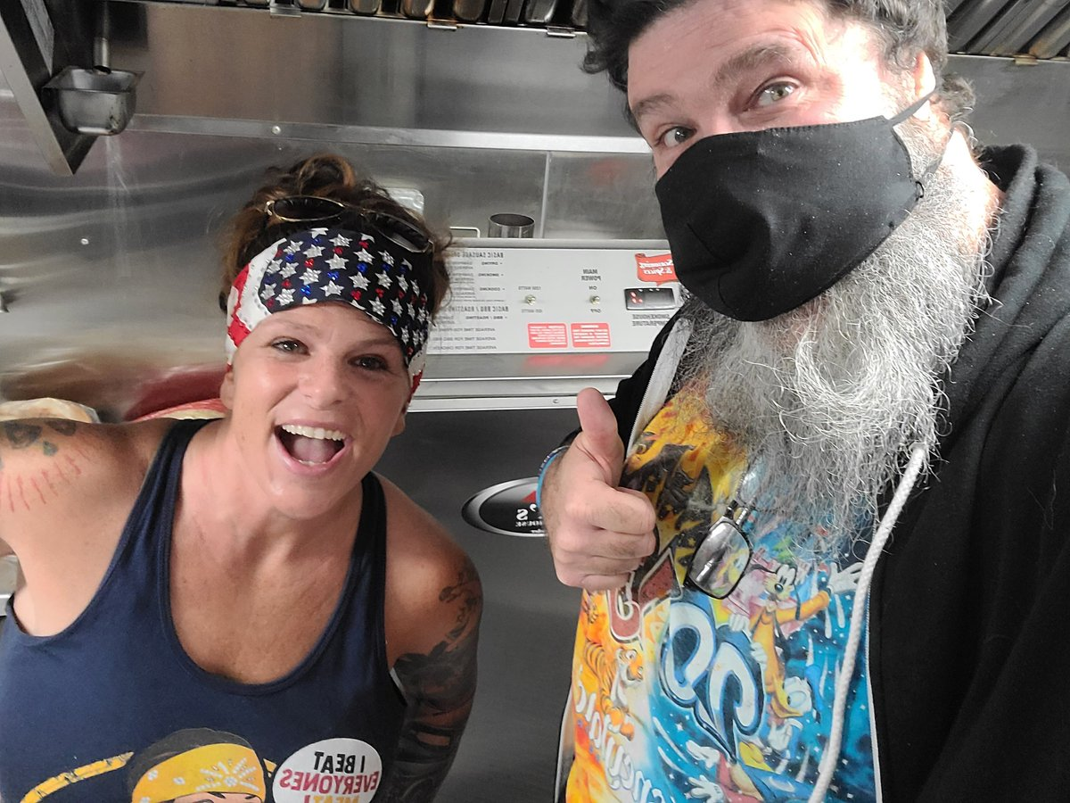 Hanging out with none other than @theodbbam at her #MeatnGreet food truck, here...RIGHT HERE in #StAugustine Florida!   Check out her upcoming schedule at