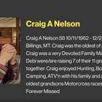 "Image for the Tweet beginning: ""Craig enjoyed Hunting, Boating, Fishing,"