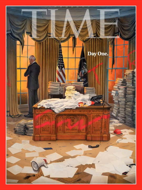 Replying to @TIME: TIME's new cover: Day one