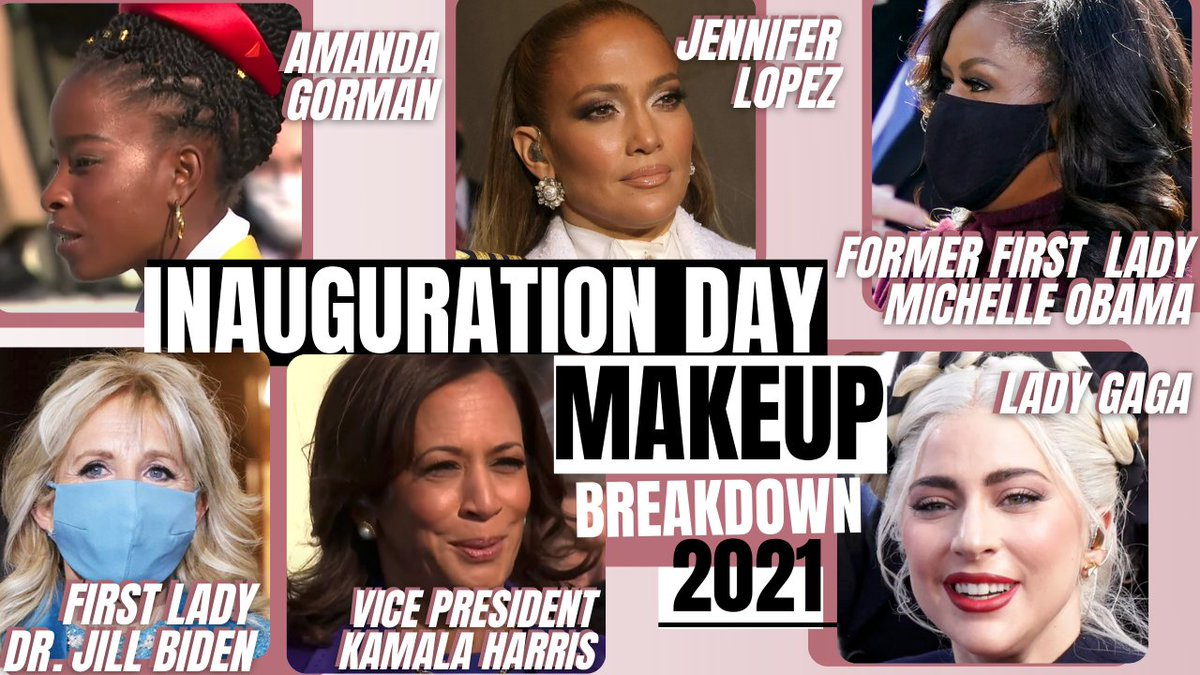 #Inauguration2021 MAKEUP RECAP, of these powerhouse women! So inspired by these beautiful women.😍 Watch Now >>  << . . #Inauguration #makeup #MakeupTutorial #womenofimpact #KamalaHarris #JillBiden #LadyGaga #AmandaGorman #JenniferLopez #MichelleObama