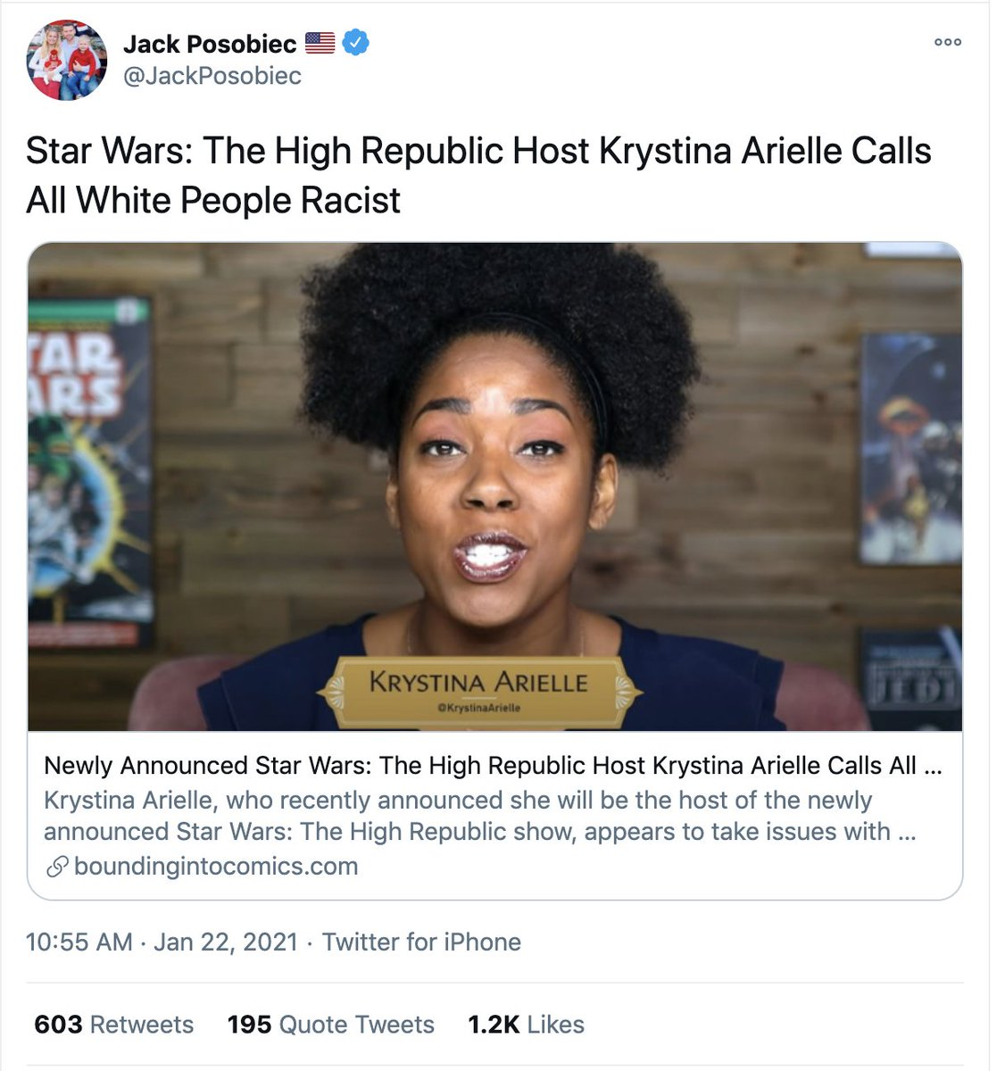 I don't feel like boosting the actual tweet itself, so have a screencap.  The least racist white person in this country STILL has some internalized racism and benefits from systemic racism.  Nothing Krystina Arielle has said was wrong. #istandwithkrystina