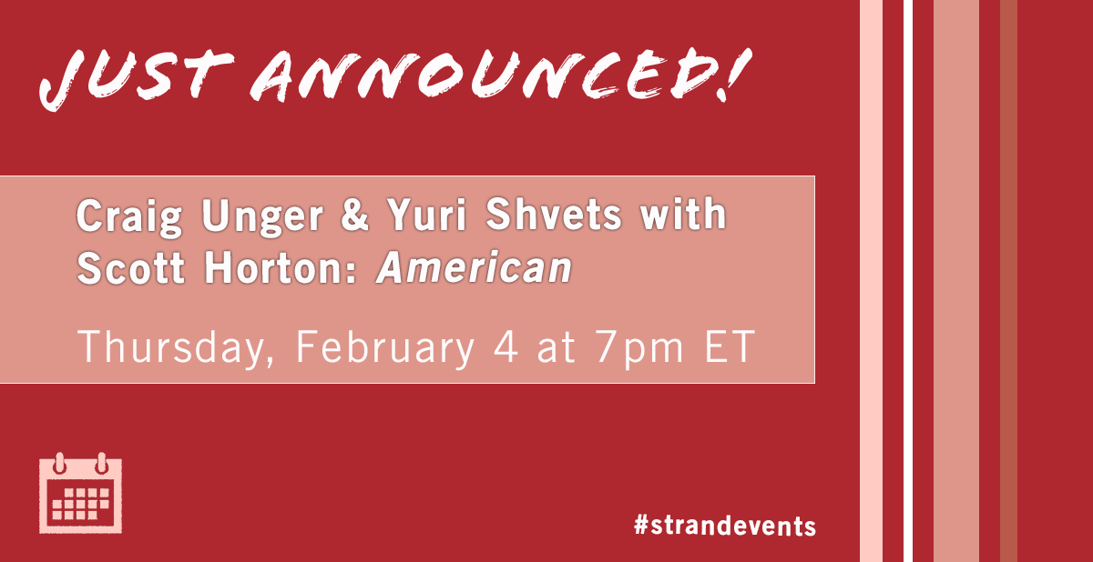 This February, join @craigunger and Yuri Shvets as Craig presents his newest book American Kompromat: How the KGB Cultivated Donald Trump, and Related Tales of Sex, Greed, Power, and Treachery. Joining is human rights advocate and author Scott Horton. https://t.co/fTYUTJO4PT https://t.co/y8kKtuexQf