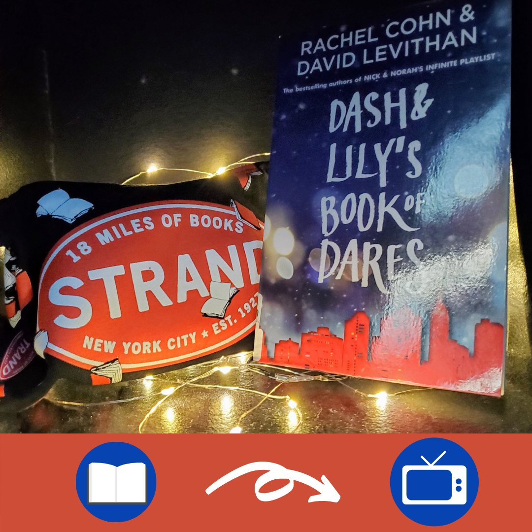 """Attention book lovers and diehard Strand bookstore fans! This one is made for you! Make sure to check out """"Dash & Lily Book of Dares"""" by Rachel Cohn and David Levithan before watching the Netflix Original series """"Dash and Lily"""".  #strandbookstore #dashandlily"""
