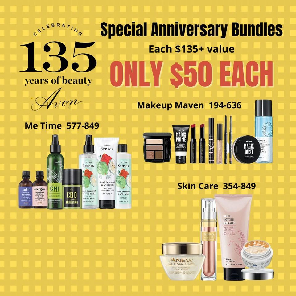 Which is your favorite bundle? These are available for a limited time. Order them here:   💄 💄  #avon #makeup #beauty #avonmakeup #avonproducts #avononline #avonrep #skincare #avonparfum #love #avonlife #avonbeauty #perfumes #parfum #fashion #follow