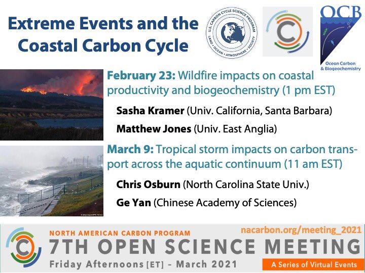 Flier webinar extreme events coastal carbon