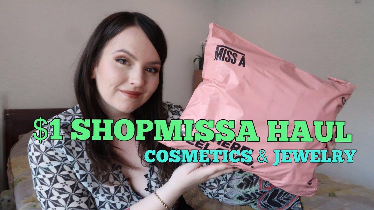 $1 SHOPMISSA COSMETICS & JEWELRY UNBOXING HAUL 2020  via @YouTube #makeup #missa #AOAStudio