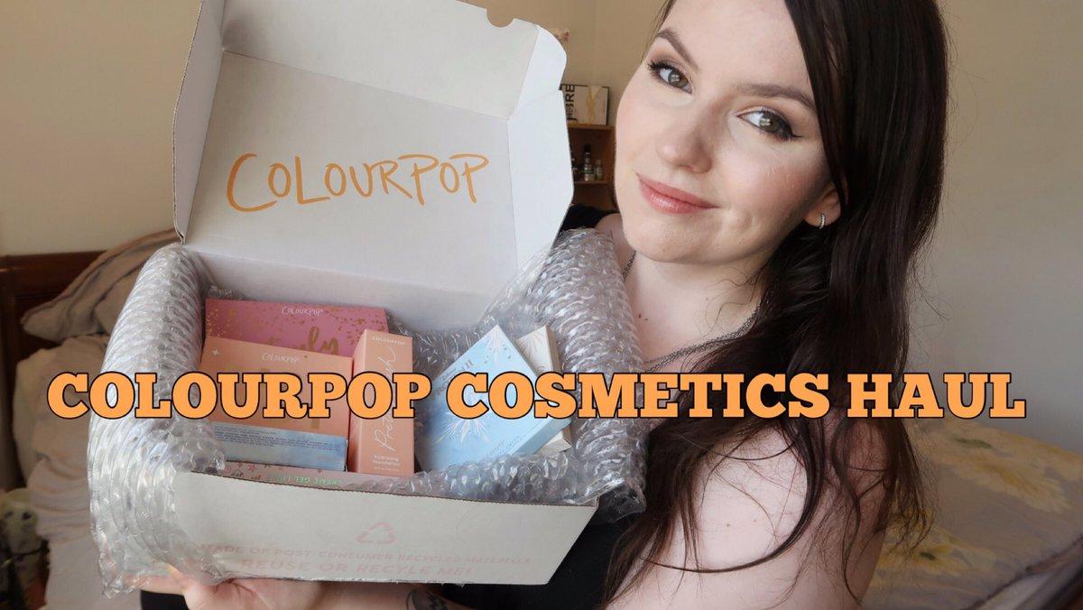 COLOURPOP COSMETICS HAUL | + SWATCHES |  via @YouTube #unboxing #makeup