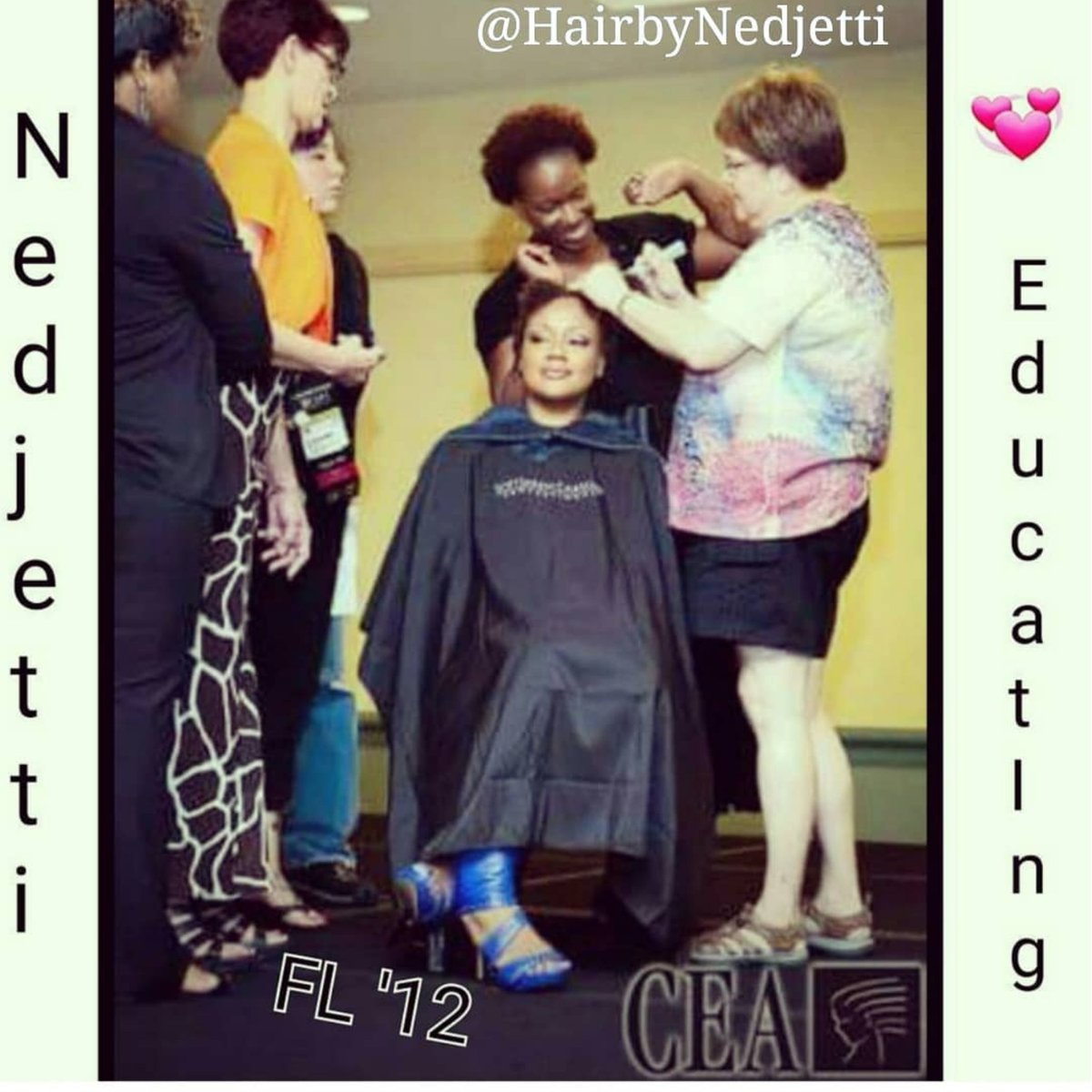 #fbf #HairMeOut ® #NedjettiHarvey 💞sharing my 25+ yrs #NaturalHairCare #HairArtistry passionate skills as a #LOreal #platformEducator of 10yrs✂️  👑#ForTheCulture #Nedjetti #NaturalHair #Cosmetologist #Educator in #Orlando '12 along w/my #Cosmetologists #SalonOwners peers🤛🏾