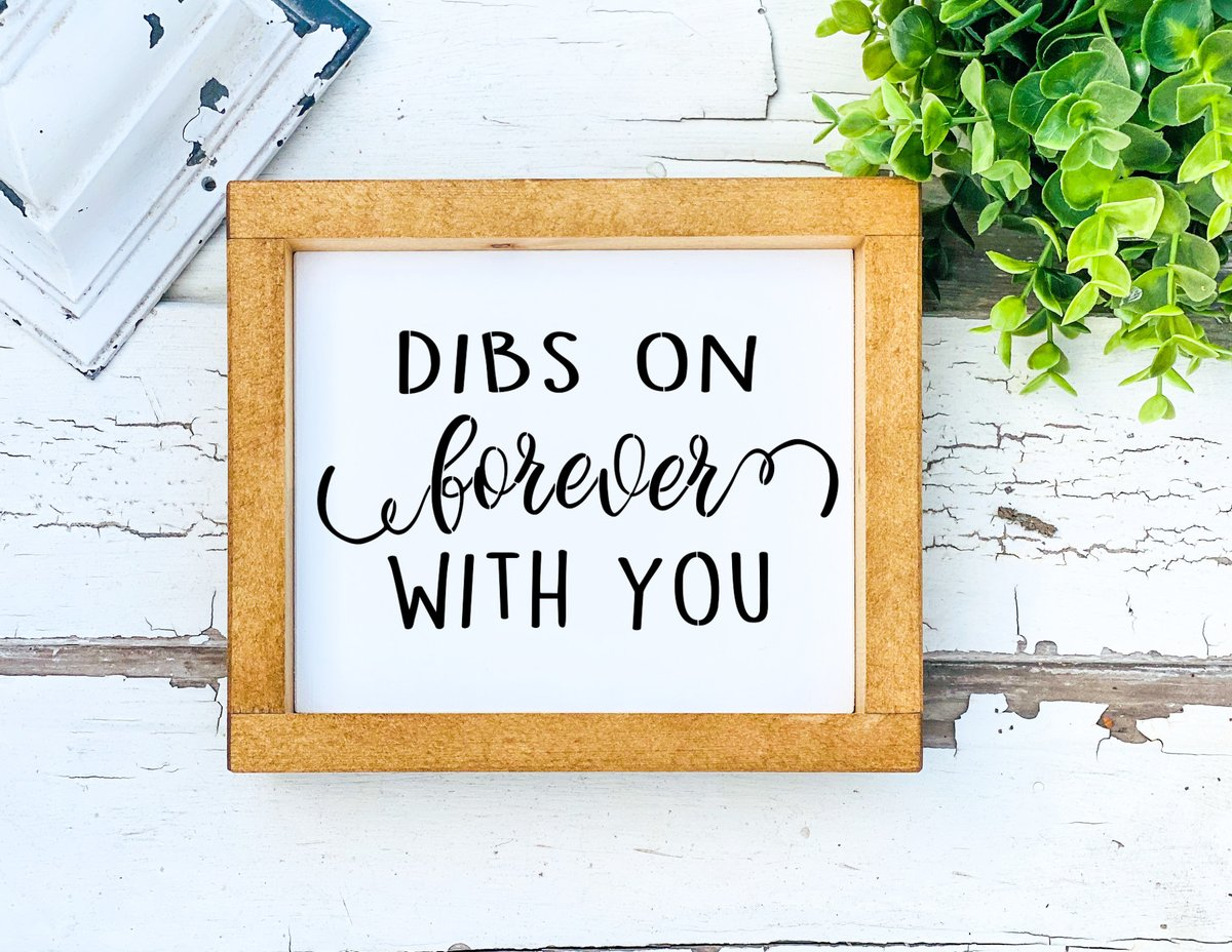 Excited to share the latest addition to my #etsy shop: Dibs on you forever with you-Farmhouse decore signs-Wedding sayings decor-Valentine's Day Gift for him-Valentine's Day gift for her  #white #wedding #valentinesday #black #framed #entryway #c