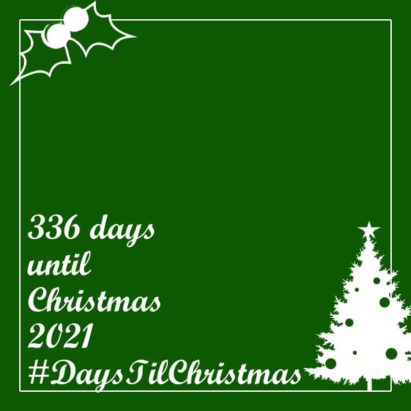 336 days til Christmas 2021   #DaysTilChristmas   #336DaysTilChristmas   #Christmas   #DaysUntilChristmas   #MaligayangPasko🎅🤶🎄🎁