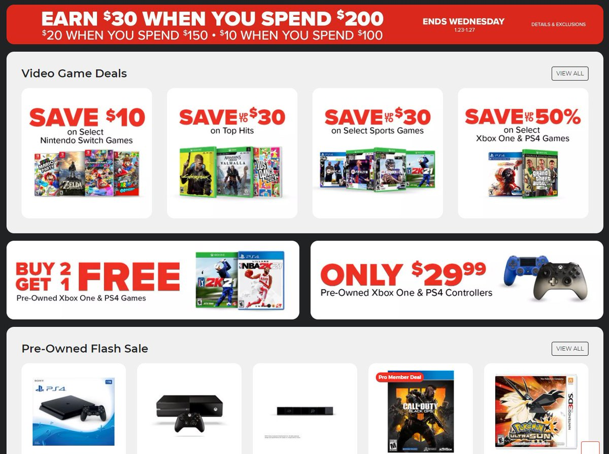 GameStop Pro Day sale 2