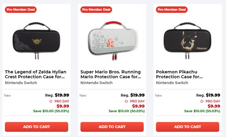 $9.99 select Switch cases at GameStop (Pro members only) Link0|Link1