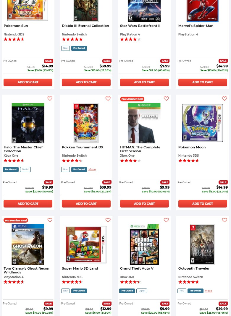 GameStop Pro Day Pre-Owned Flash Deals