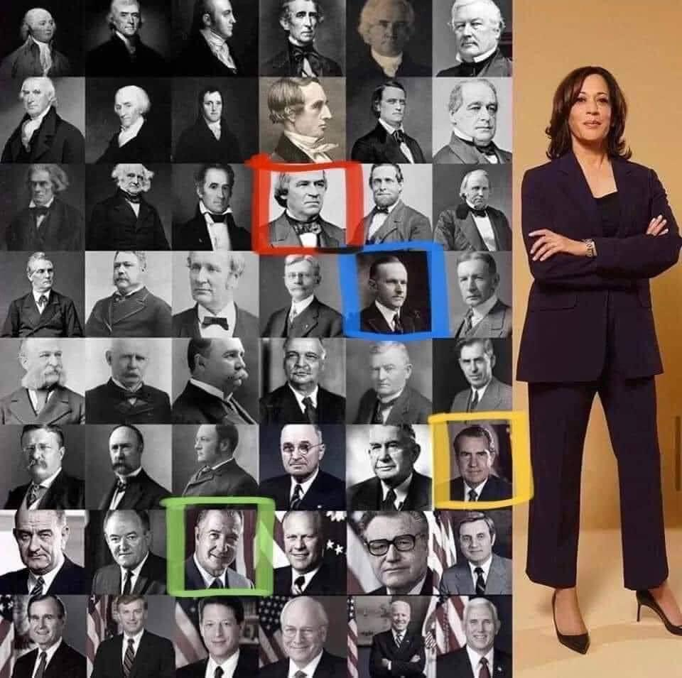 Don't understand why it's a big deal that Kamala Harris is VP?  Until Red box?  She would have been enslaved.   Until Blue box?  She couldn't vote.   Until Yellow box? She had to attend a segregated school.   Until Green one? She couldn't have her own bank account.