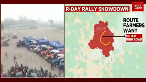 Farmers preparing for a mega #tractorparade on the occasion of #RepublicDay, as 11 rounds of talks between them and the government failed to yield any result.  #ITVideo #FarmersProtest