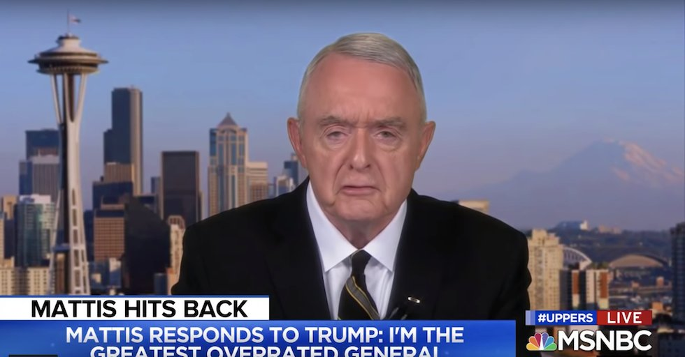 """Every time I see General Barry McCaffrey on teevee I think, """"Man, that dude would yell at me for everything I do..."""""""