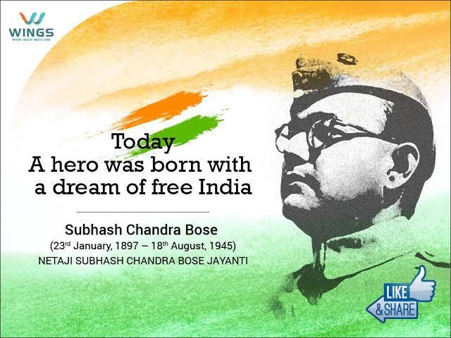Remembering Netaji on his Jayanti.  Mera shat shat naman.  🌸🌸⚘🌸🌸🇮🇳🙏 Jai Hind.  #ParakramDiwas