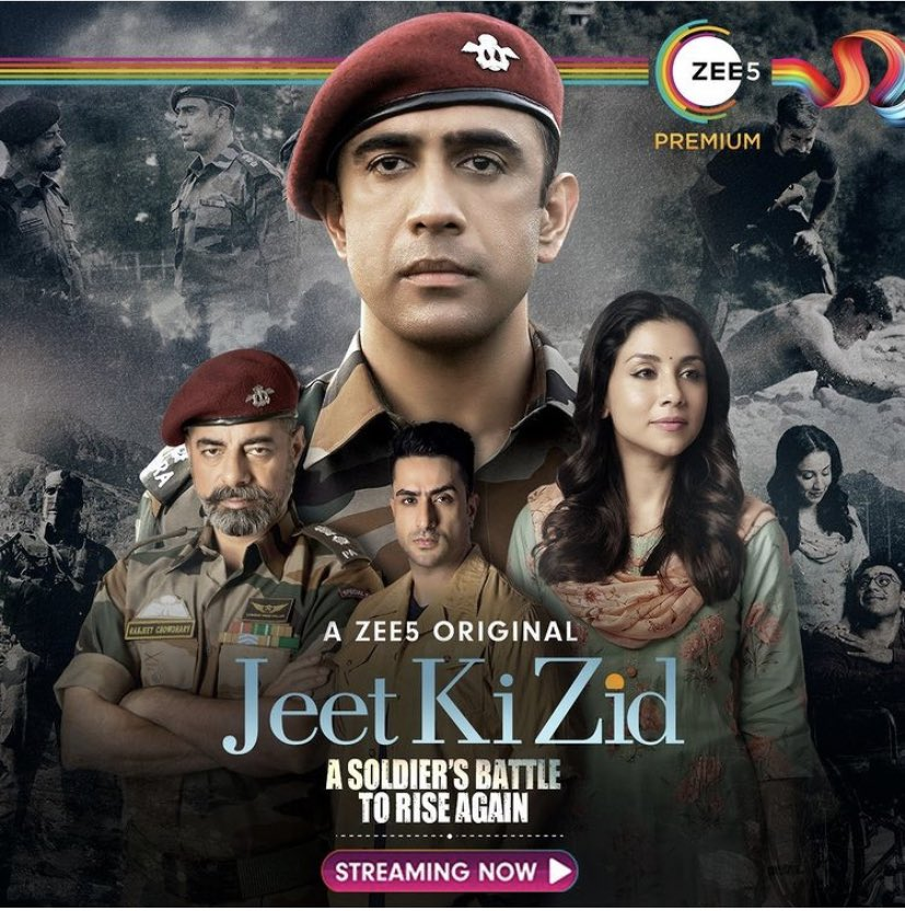 Deeply touched by the incredible story of Major Deep Sir ft @TheAmitSadh .Unbeatable performances by Colonel Ranjit Sir and not to forget the backbone of the whole story=Jaya mam ft #AmritaPuri  Salute to all wives 👏 TheArmyBehindTheArmy Must Watch #JeetKiZidd @ZEE5Premium