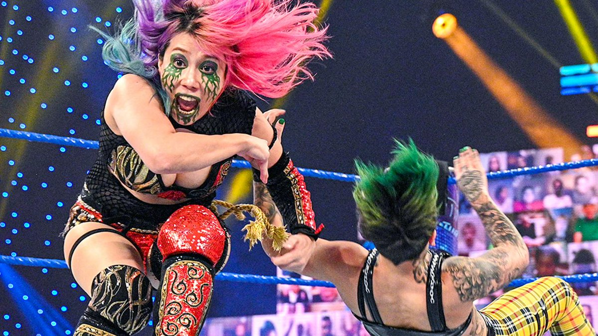 On the road to #RoyalRumble, @WWEAsuka & @MsCharlotteWWE defeated The #RiottSquad today on #SmackDown. FULL RESULTS: