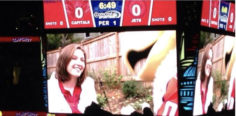 Oh and on this night in 2013 I made my Caps big board debut! Got silly stringed in the face for a Ferris Bueller spoof. #worthit #fbf #anniversary