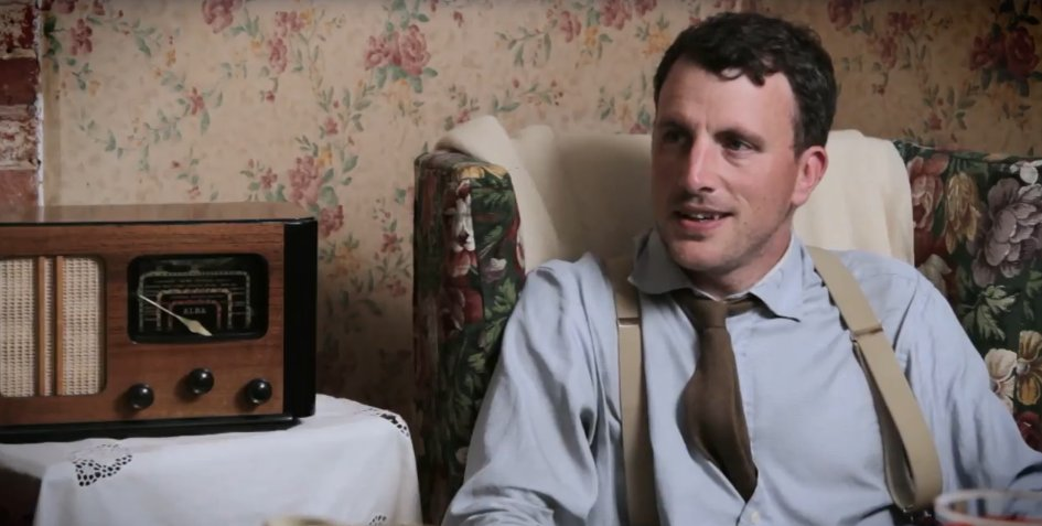 Watching #WartimeFarm on @AcornTV & @AlexJLanglands looks very comfy in that 1940's chair. ;)  #history #farming #1940s #WWII