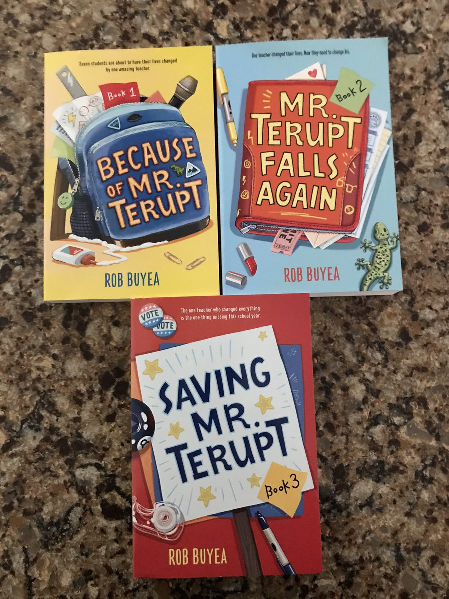 🎉🎉Friday Night Raffle 🎉🎉Let's get started! Follow author @RobBuyea & indie bookshop @LiftBridgeBooks & Retweet by 6pm 1/23 for a chance to win all 4 in the #MrTerupt series! 📚💚📚💚📚💚📚💚📚💚📚💚📚💚📚@randomhousekids #FridayNightRaffle