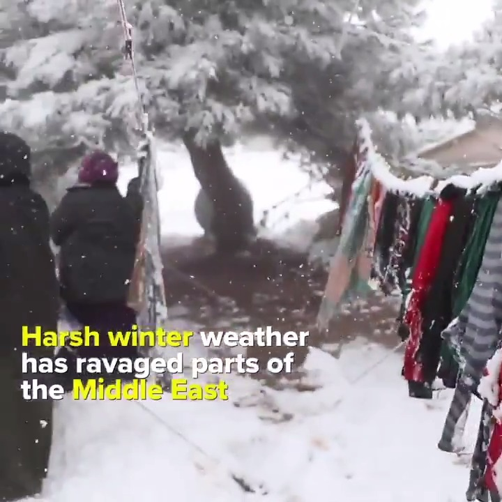 Many displaced families in the Middle East are struggling with the harsh winter weather.