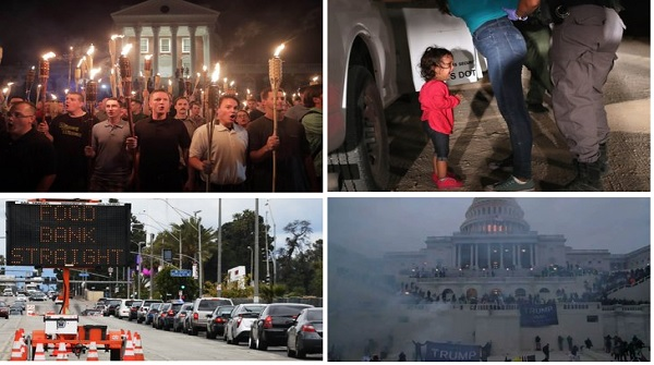 The #RadicalLeftistAgenda is laser focused on ending #MAGA DOMESTIC TERRORISM  These 4 photos reflect it all  ⬇️