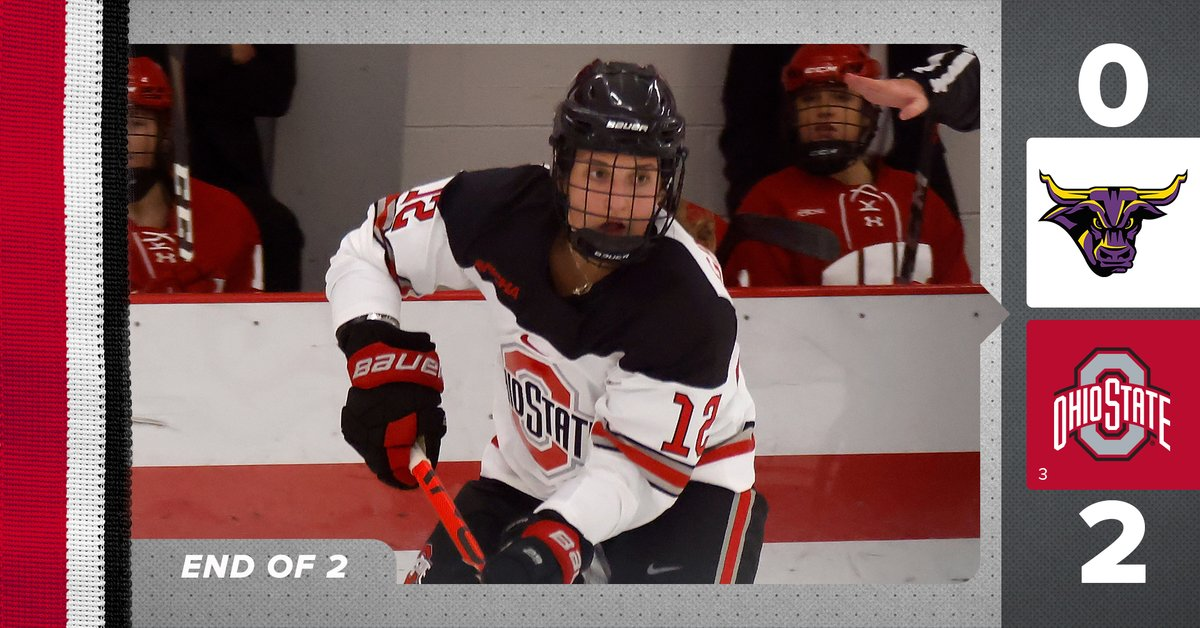 #Buckeyes lead in shots 37-16 and on the scoreboard 2-0 through two periods.  #GoBuckeyes