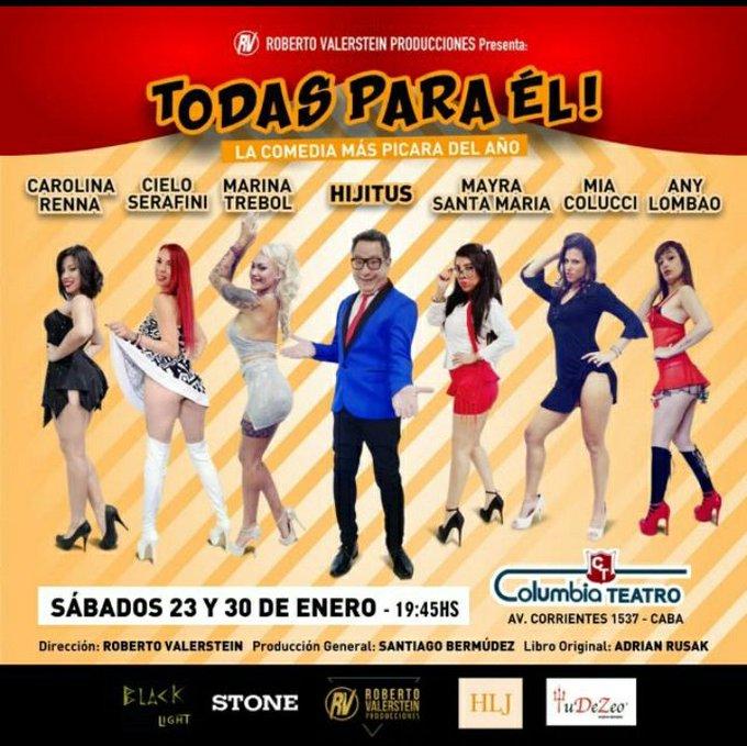 1 pic. Mañana sábado!!! 19:45 hs *  TODAS PARA ÉL*   en el Teatro COLUMBIA.  Hermosa comedia !!! Mucho