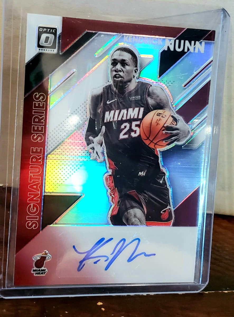 2019-20 Optic Kendrick Nunn Purple Prizm Signature Series Rookie Autograph $45 with tracking  #HEATTwitter #heatculture #Heat @HobbyConnector @Hobby_Connect
