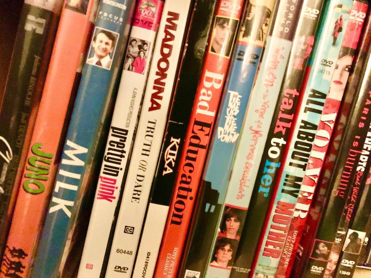 Movie night.  Old school.   • •  #movienight  #almodovar  #parisisburning  #mollyringwald #truthordare  #somanymoviessolittletime