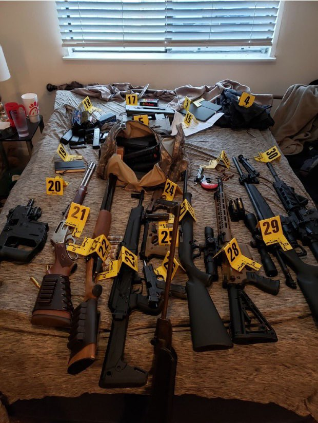 My #RadicalLeftistAgenda is to let people know that this is what the FBI found inside #ZipTieGuy's home when they arrested him.