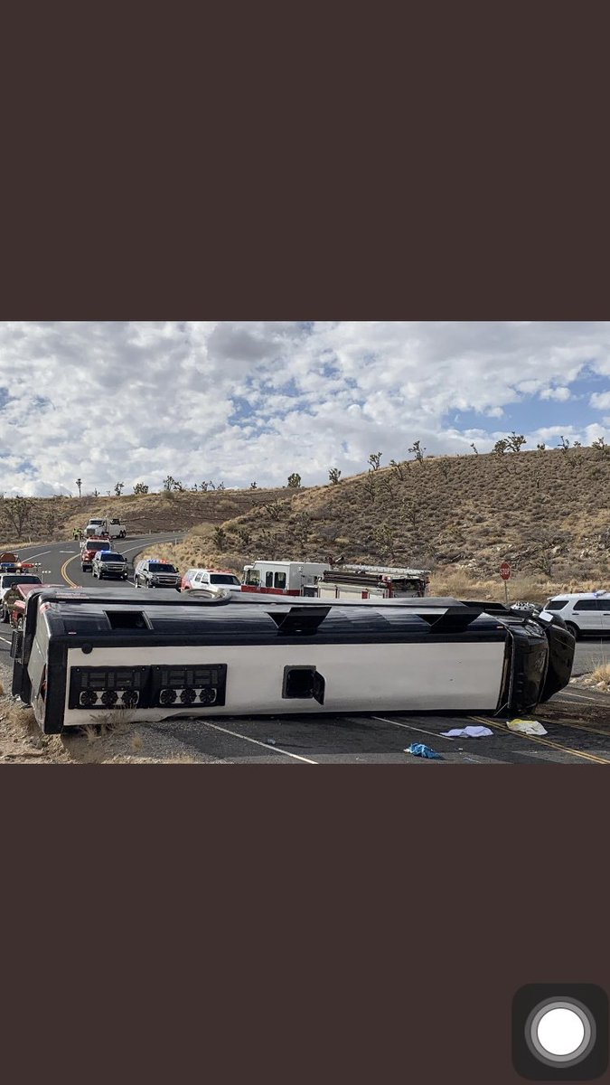 Breaking: At least 1 person was killed, and 40 others injured, after a tour bus near the Grand Canyon rolled over and landed on its side. (Photo via @Joe_Bartels) https://t.co/t5w9Lbl8ld