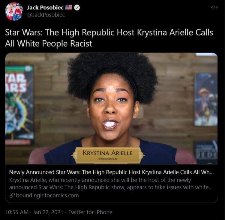 Hey, @starwars @Lucasfilm_Ltd @Disney Where is your official statement denouncing this garbage?! Stand behind your POC employees for a damn change!  @twitter This is TARGETED HARASSMENT & SLANDER! Take it down & #VerifyKrystina! #IStandWithKrystina