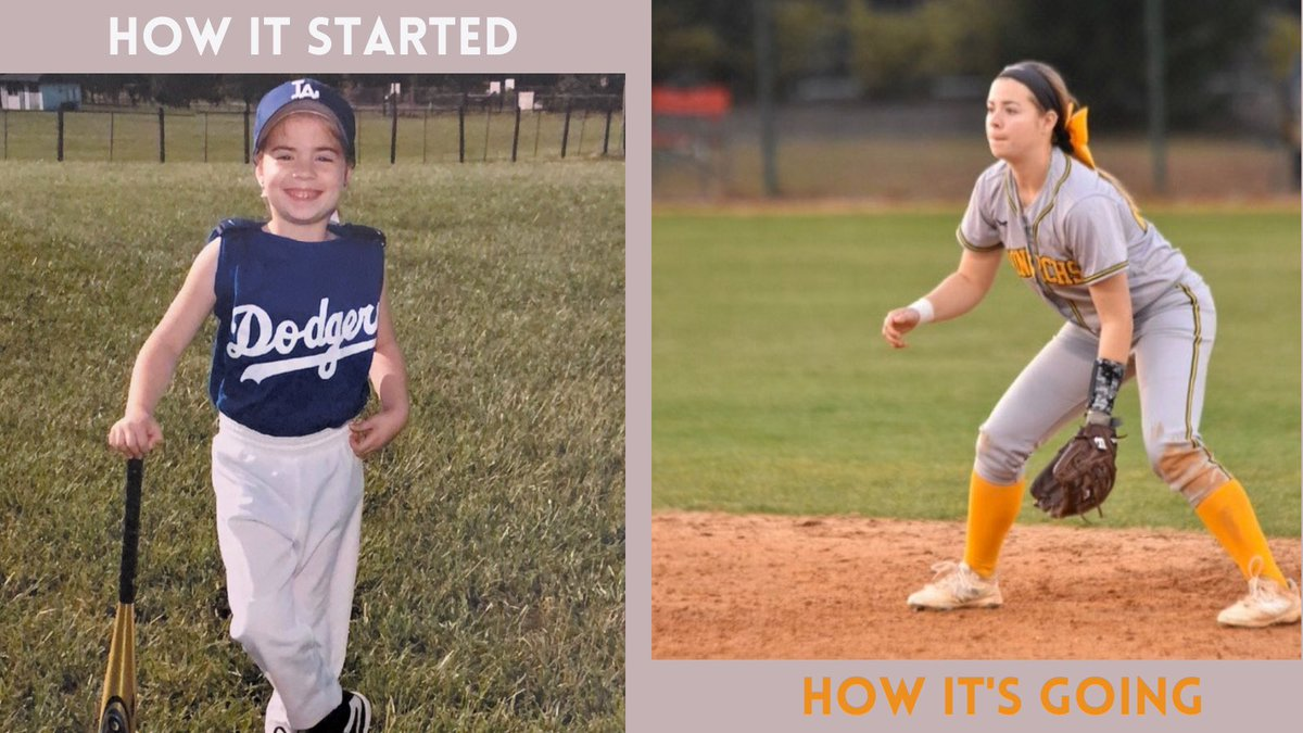 """Wrapping up the week with Reagan Parks! """"I love playing softball because no game is the same, there is always a new challenge and room for growth!"""" #howitstarted #howitsgoing #howitstartedvshowitsgoing #musb #monarchnation"""