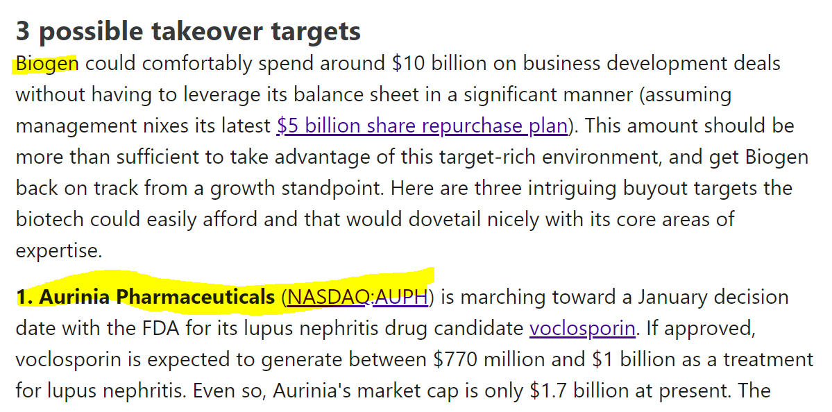 $AUPH Phase 3 FDA decision stock halted. Is $BIIB about to do a buyout over the weekend? 😱🤫🧐🚀🤑🌕🐂  $SPY $QQQ $IWM $VIX $FB $AAPL $AMZN $GOOG $MSFT $TSLA $NIO $NVDA $DKNG $PENN $MARA $RIOT $SLV $BABA $SPCE $CGC $TLRY $ACB $APHA $GME $BA $PLTR $ZM $BB $QS $AMD $INTC $CCIV https://t.co/0V6Y0hweoP