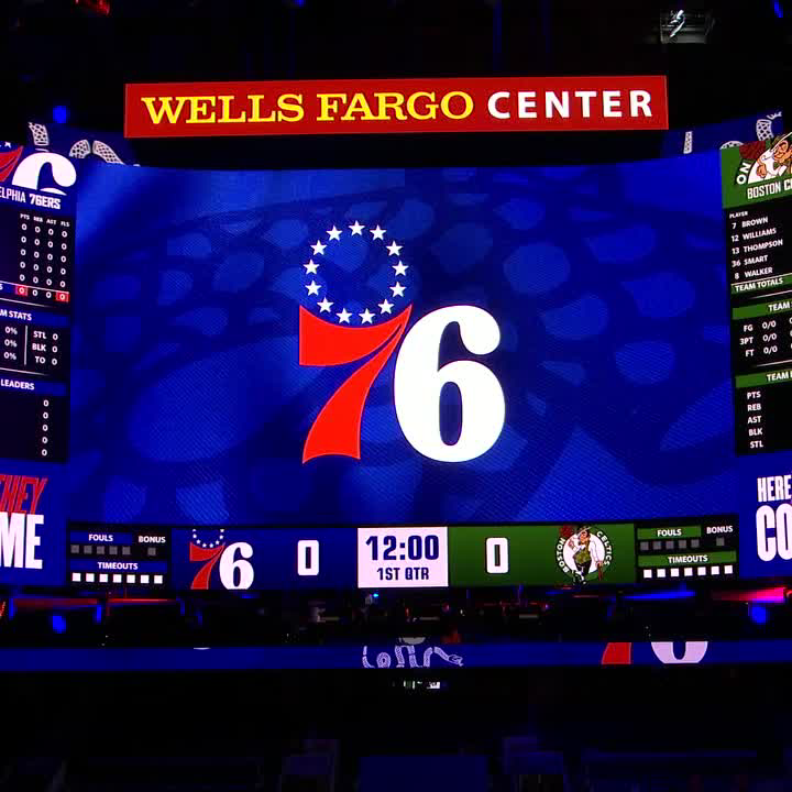 """The Celtics and 76ers hold a moment of silence for Henry """"Hank"""" Aaron before tip-off ❤️"""