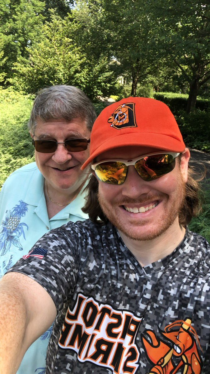 #FearTheClaw #LiveTheIslandLife #family #MortonArboretum #fun #NaturePhotography #nature Me displaying some @PShrimpBaseball pride next to my dad @randyrussell10 in his @TommyBahama shirt while we enjoy a memorable afternoon together at the @MortonArboretum. 🤍⚾️🖤🧡🦐🌳🍂‼️