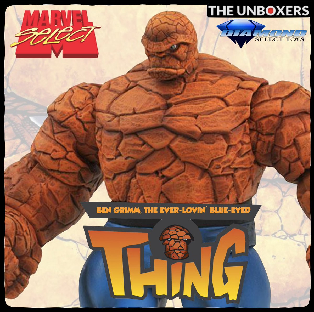 It's Clobberin' Time! Yake a look at The Thing Marvel Select Action Figure from our friends at @collectdst    Be sure to👍& #subscribe   #ad #Marvel #FantasticFour #TheThing #DiamondSelect #YouTuber #unboxing #toys #toyphotography #ICYMI #fun #actionfigures
