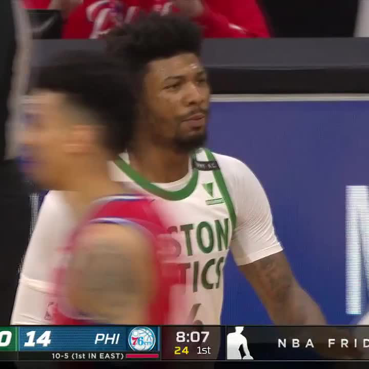 Embiid walked up to Marcus Smart to make sure he was good 🤝