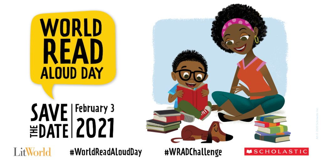 Calling all parents and teachers! Sign up for our free #WorldReadAloudDay resources, activities, and our WRAD VirtualKit: bit.ly/3sCElAq