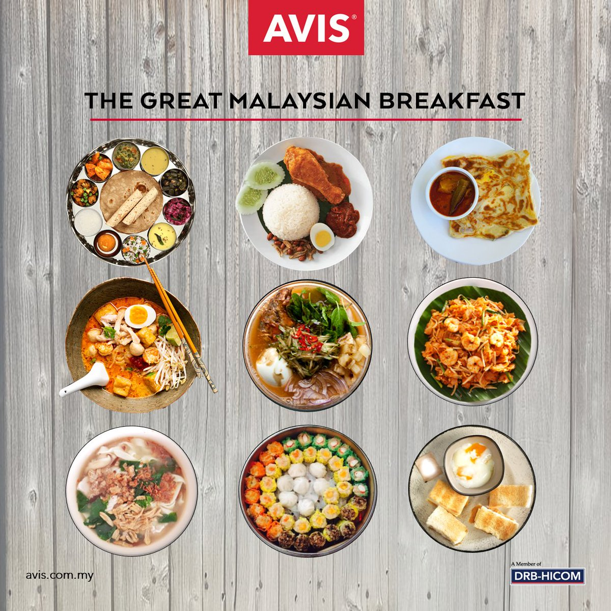 Are you having your breakfast now or still wondering what to eat?  Let us know in the comments below what is your favourite local food for breakfast?   #HappySaturday #HappyWeekend #Breakfast #Avis #MalaysiaTrulyAsia #StayAtHome #StaySafe