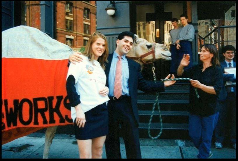 I was only 25 when I started my first company, PeaceWorks. I learned so much from that experience that I would love to share with these guys. This photo was taken when we launched Moshe & Ali's Spratés. Lesson #1:Camels walking through NYC can make for a great launch! #SharkTank