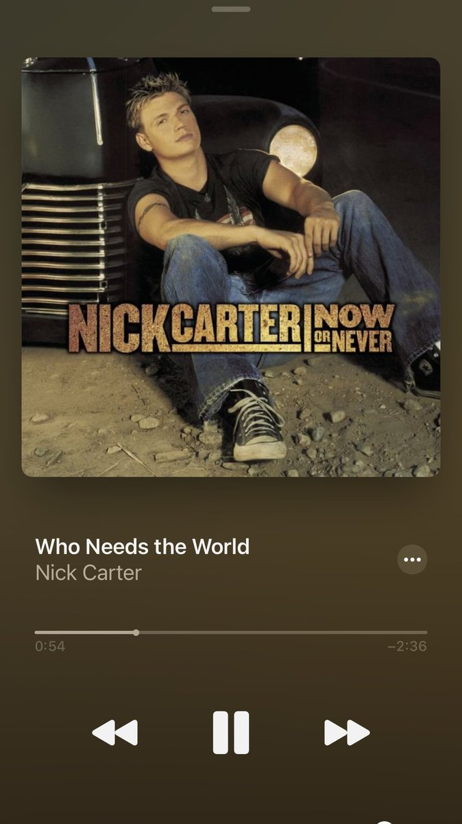 One of the songs I want @NickLachey  to sing for #musicmonday is @nickcarter's Who Needs the World idk why whenever I hear this song makes me cry 😢😁