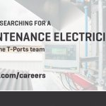 Image for the Tweet beginning: T-Ports is hiring! The Maintenance