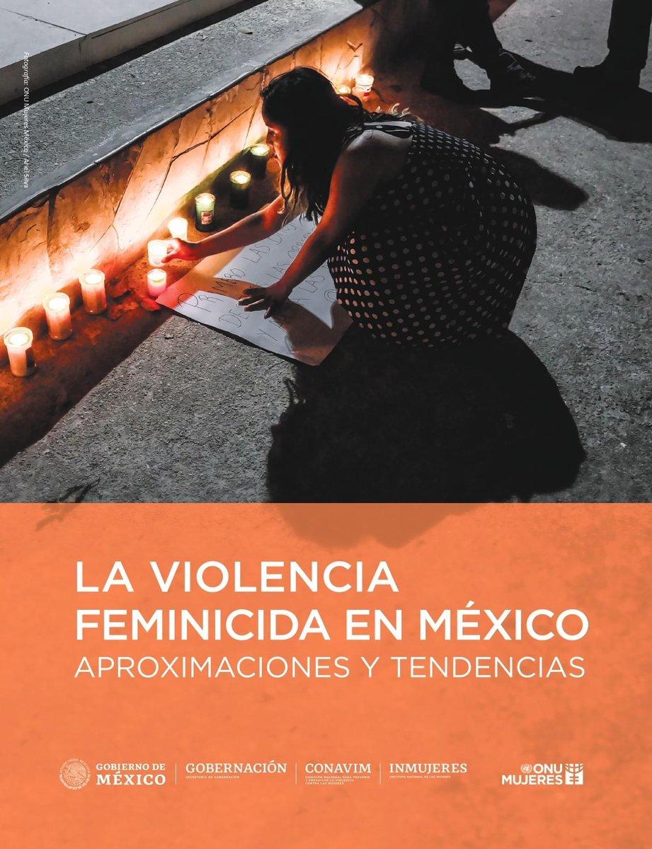 """Consulta nuestro nuevo informe """"La #ViolenciaFeminicida en México: Aproximaciones y tendencias"""": 👉🏼"""