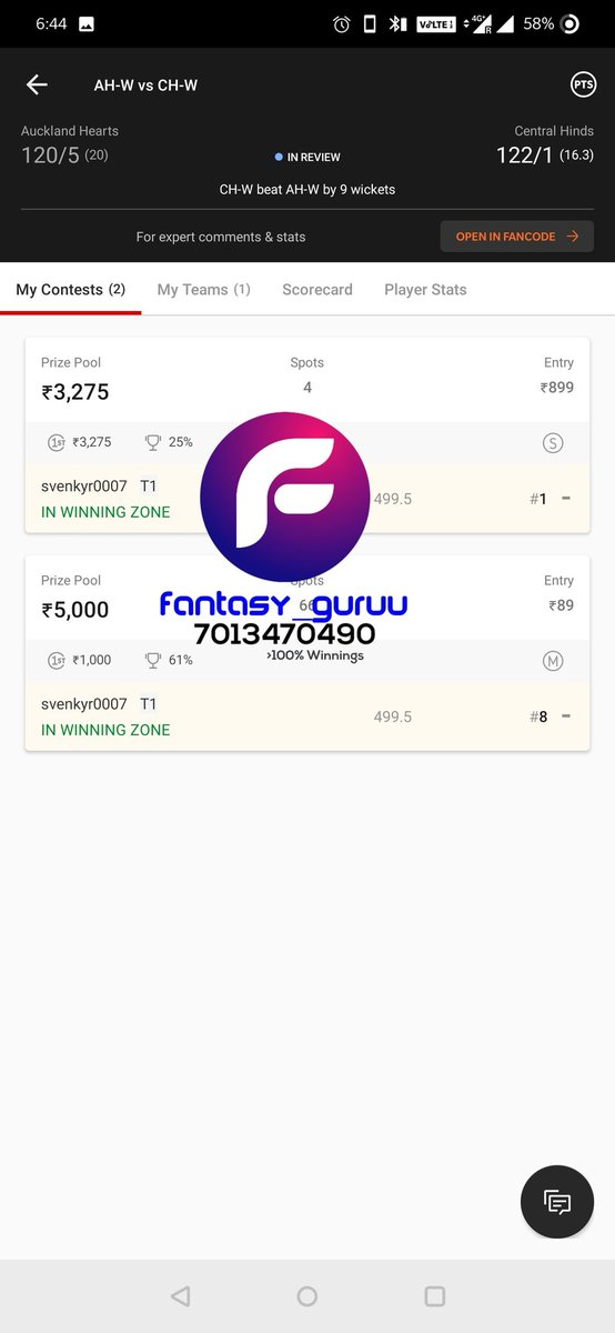 STARTED day with cleansweep TEAM from #SuperSmashNZ 🔥💪🎉✌️ For teams contact us at whatsapp 7013470490. #Dream11  #dream11teams  #Dream11Tips #ISL  #AUSvIND  #BBL10 #NBA #INDvAUS  #AUSvIND #SLvENG #INDvENG #SyedMushtaqAliTrophy  #SLvsENG  #AO2021 #SuperSmashNZ #india #AAvCS